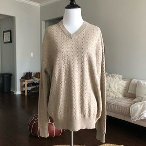 Cashmere & silk v-neck sweater